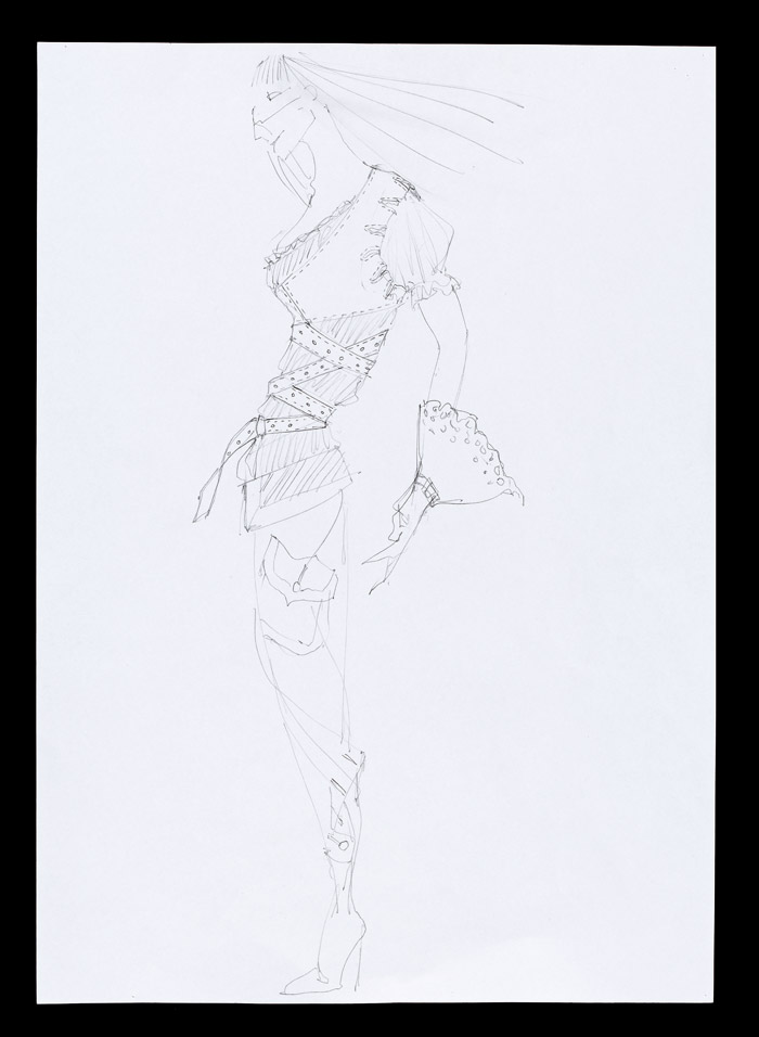 Sketch, Irere, Spring/ Summer 2003. Pencil on paper, London 2002