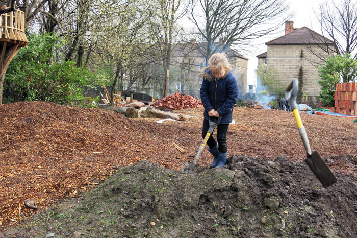 Assemble's Baltic Street Adventure Playground in Dalmarnock takes shape. Photo Credit: Assemble