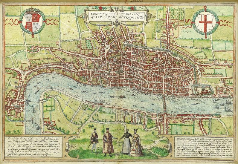 Map of 16th century London