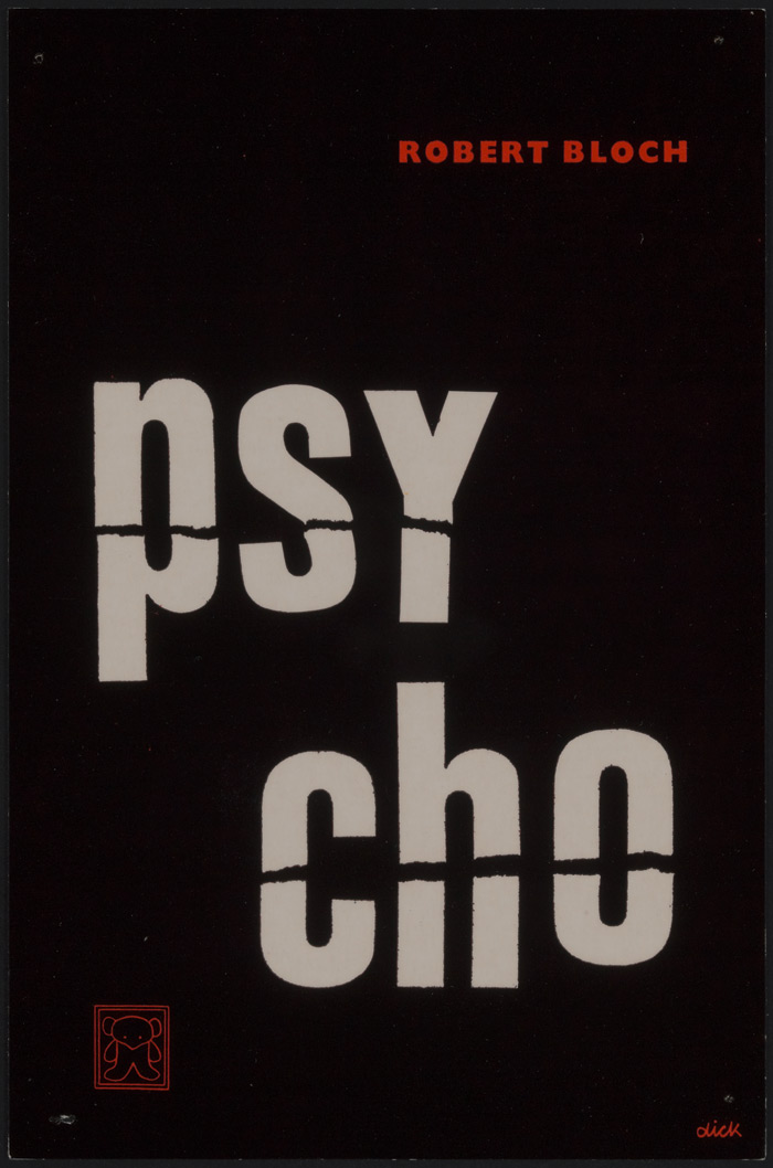 Robert Bloch's Psycho (1961). Photo:Dick Bruna, Centraal Museum Utrecht / Mercis BV