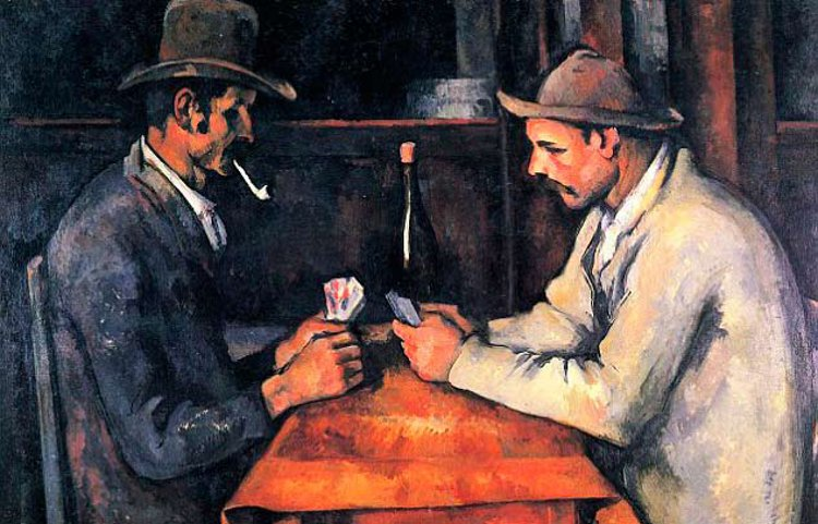 Detail of The Card Players (c.1895), by Paul Cézanne, which was acquired by the Qatari royal family in a private deal for a record-breaking sum of $250 million in 2011