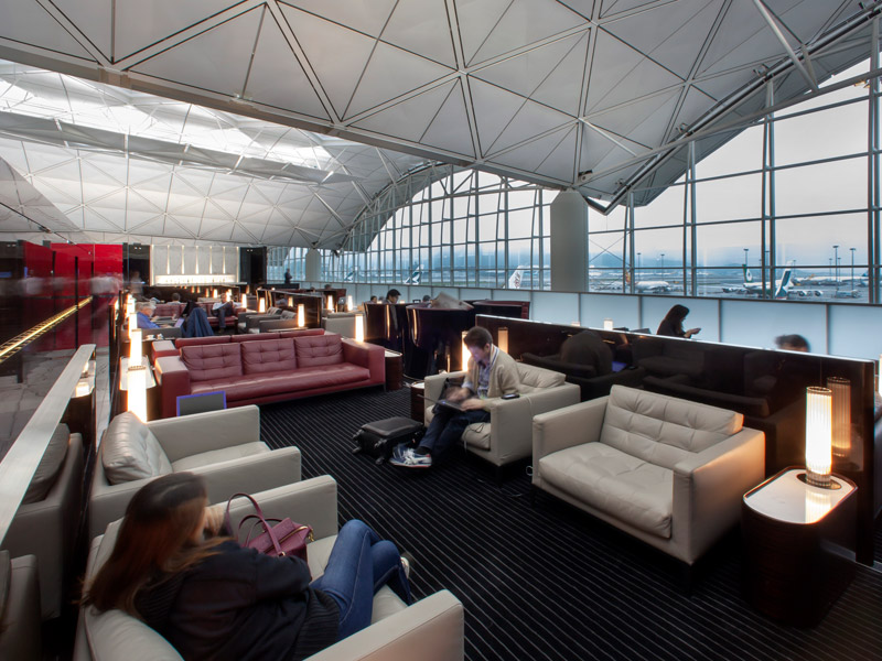 The Wing, Cathay Pacific's first-class lounge benefitted from Foster + Partners' expertise at utilising space. Photo Credit: John Nye