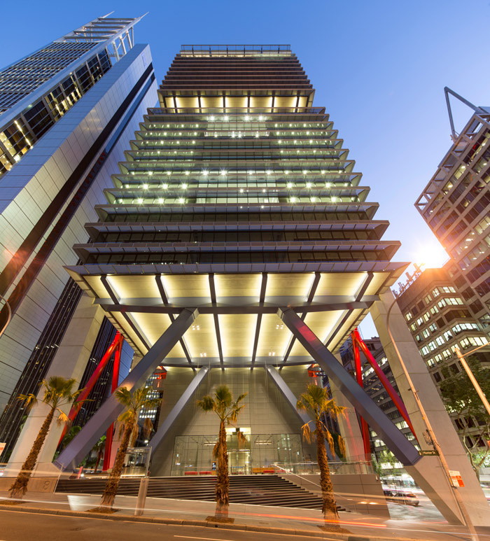 At 8 Chifley Square in Sydney, RSHP also created public realm under the building, and also has a sky garden at mid-height