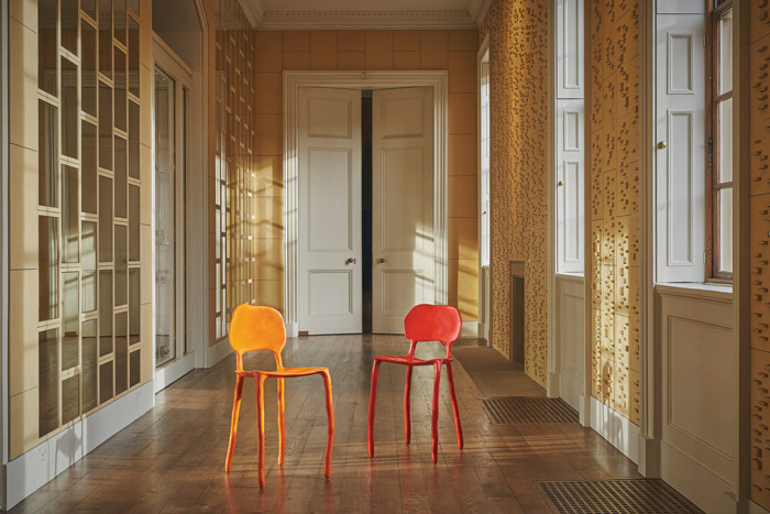 Clay Chairs, part of the Make Yourself Comfortable seating exhibition at Chatsworth House, until 23 October. Photo Credit: Chatsworth House Trust
