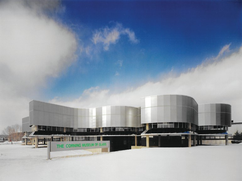 Corning Glass Museum extension (1980): Birkerts says it's the building he's most proud of