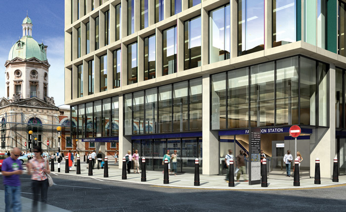 The station at Farringdon is to be a major hub for Crossrail, Network Rail/Thameslink and Underground