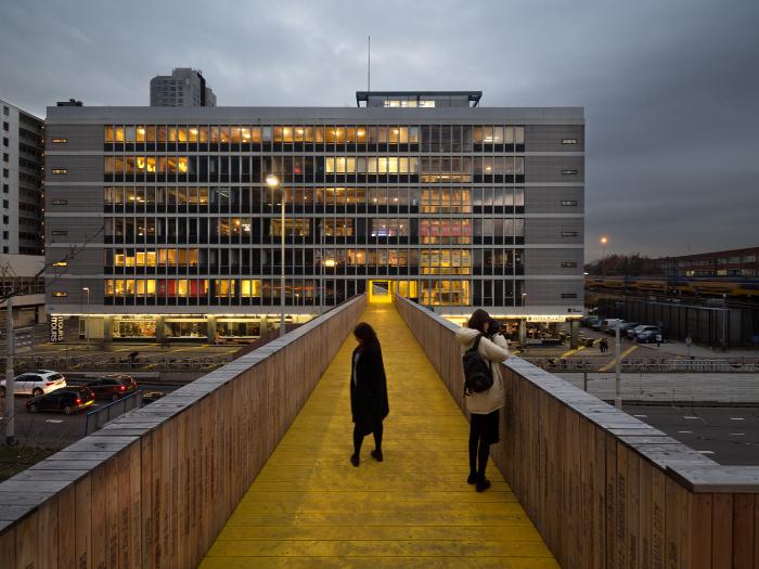 The Luchtsingel footbridge, crowd-sourced from Rotterdam's citizens Photo credit: Ossip van Duivenbode