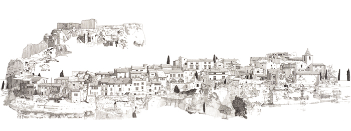 David Price's evocative landscape was chosen by Will Jones from Ecophon as his favourite, for its descriptive drawing skills and memories of childhood villages in Cornwall. David Price is head of his own architecture practice, David Price Design