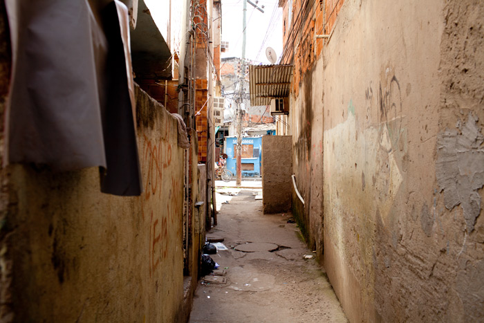 Infrastructure in the favelas is unplanned and roads are improvised by the inhabitants, outside of the official street plan