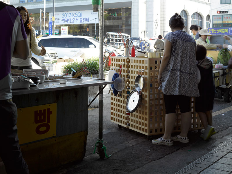 With his Cubic Meter Food Cart, Ai Weiwei was inspired by the function, economics and history of Gwangju's 'tented wagons'. Photo Credit: Bas Princen + Ai Weiwei Studio