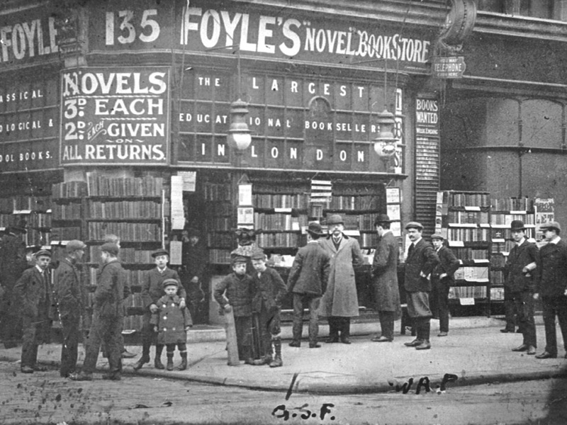 Foyles has been a fixture of London's West End for more than a century, as shown from this photo of the shop dating back in 1906. Photo Credit: Foyles Archive