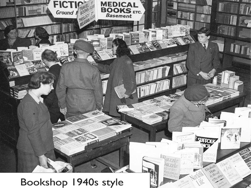 Despite almost being destroyed by a bomb in the Second World War, Foyles has remained a constant in an ever-changing city. This photo comes from 1940. Photo Credit: Foyles Archive
