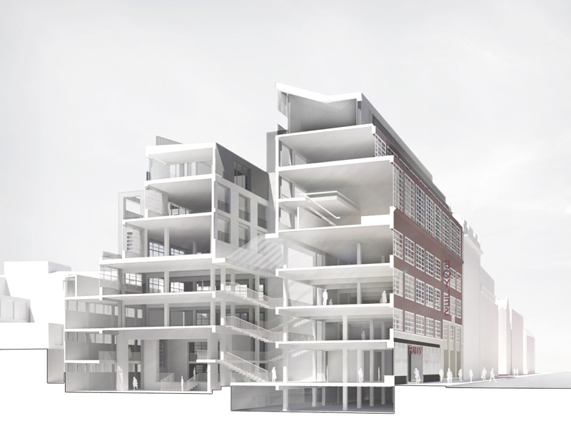 3D cutaway model of the new Foyles building gives you a better sense of how it all fits together.