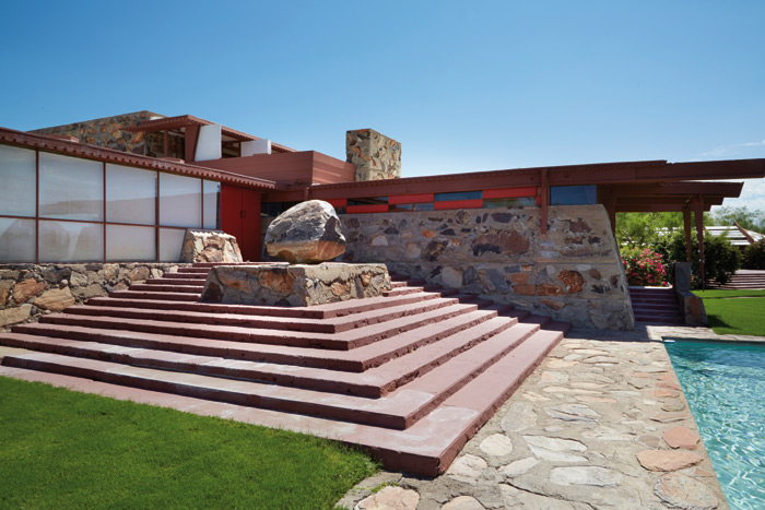Taliesin West sits in the Arizona desert, overlooking the McDowell Mountains Photo: Tonic Photo Studios