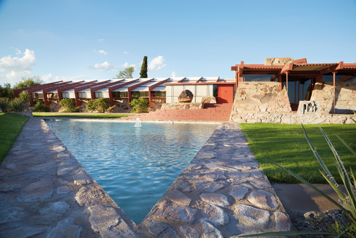 Students spend the winter months of their studies at the Frank Lloyd Wright School of Architecture here at Taliesin West. Photo: Tonic Photo Studios