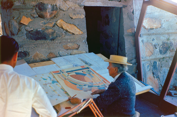 Frank Lloyd Wright continued to stay at Taliesin West until his death in 1959 at the age of 91. Photo: FLLW Foundation