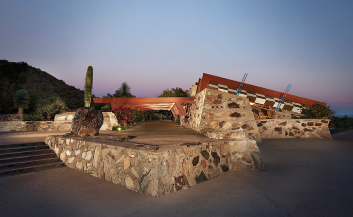 Taliesin West is also home to the Frank Lloyd Wright Foundation and is open to the public for tours. Photo: Tonic Photo Studios