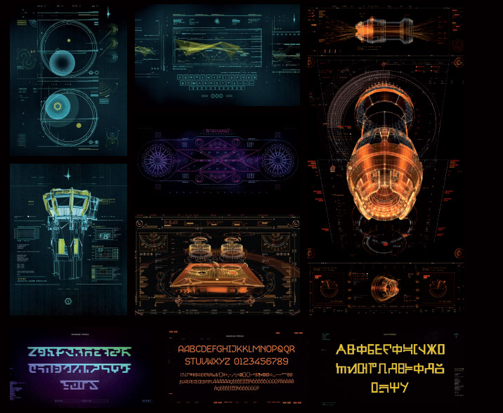 Screen graphics for the 2014 film Guardians of the Galaxy. Photo: Territory Studio Ltd