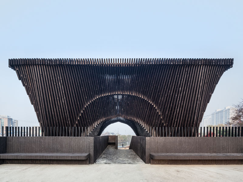 The Gwangju Reading Room, by David Adjaye, contains 200 books of the theme of human rights. Photo Credit: Kyungsub Shin