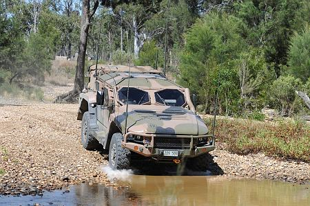 Hawkei vehicle