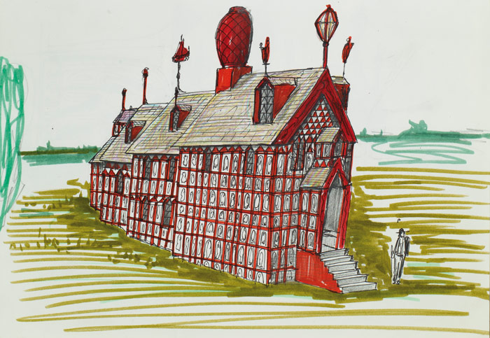 Grayson Perry?????????s initial sketches for A House for Essex