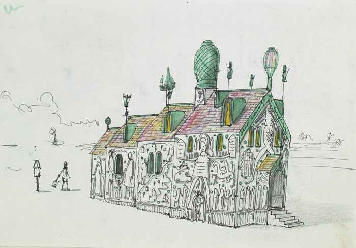 Grayson Perry's initial sketches for A House for Essex