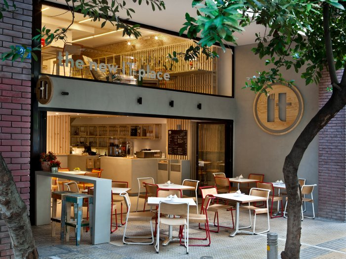 IT Cafe in Athens is a cafe and multipurpose event space 'packaged' as a food crate Photo Credit: Nikos Alexopoulos