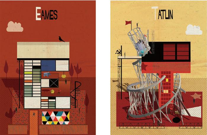 illustrated alphabet of famous architects