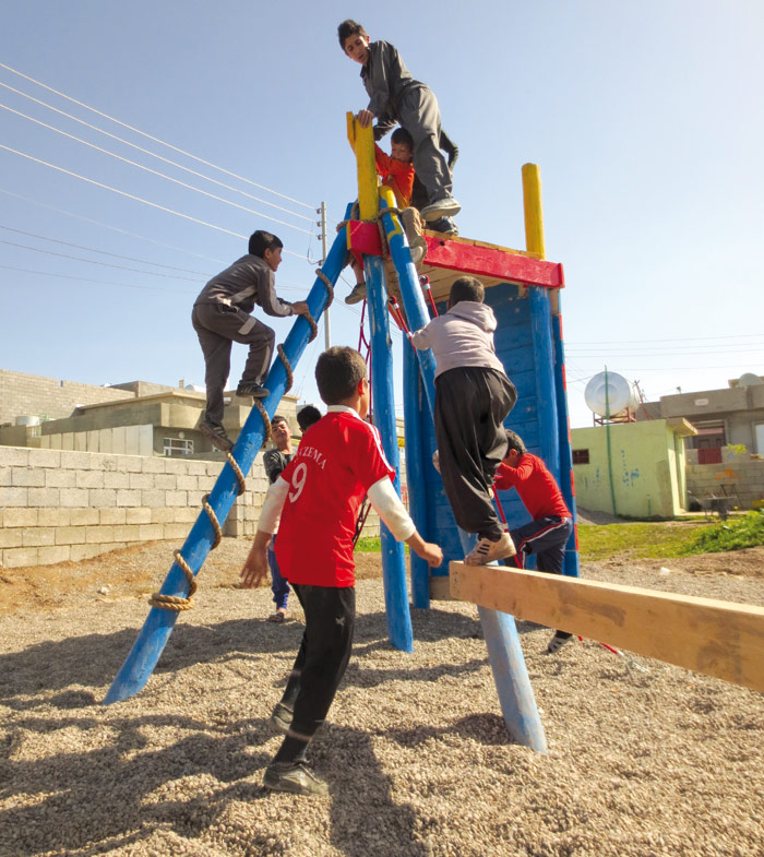 Iraq's first adventure playground, created by Made From Scratch, in the Kurdish town of Halabja