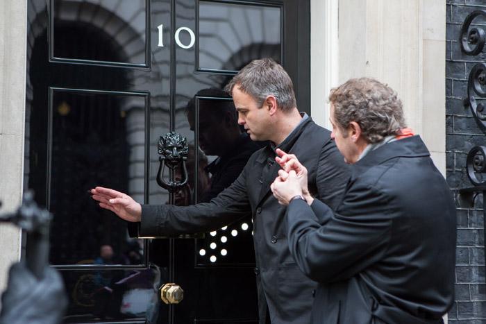 Jason Bruges tests out the door for himself