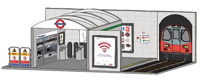 A visualisation of the lifesize, wooden Tube station. Photo: Courtesy London Design Festival