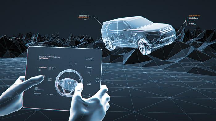 Motion graphics showcasing Land Rover's Vision Concept technologies such as Terrain Response Photo: Territory Studio ltd