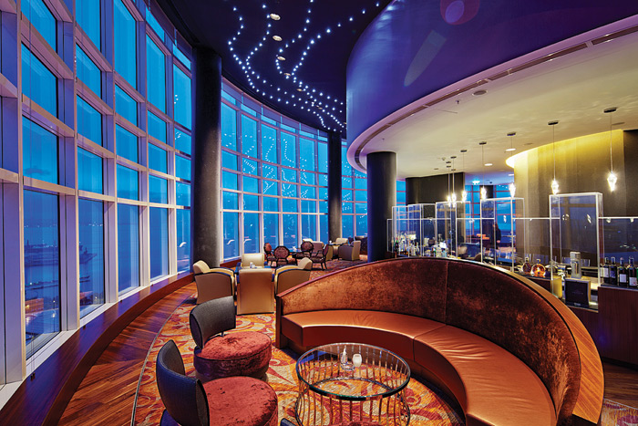 For the Skybar at the Hilton Baku there was no lux requirement nor no uniformity requirement