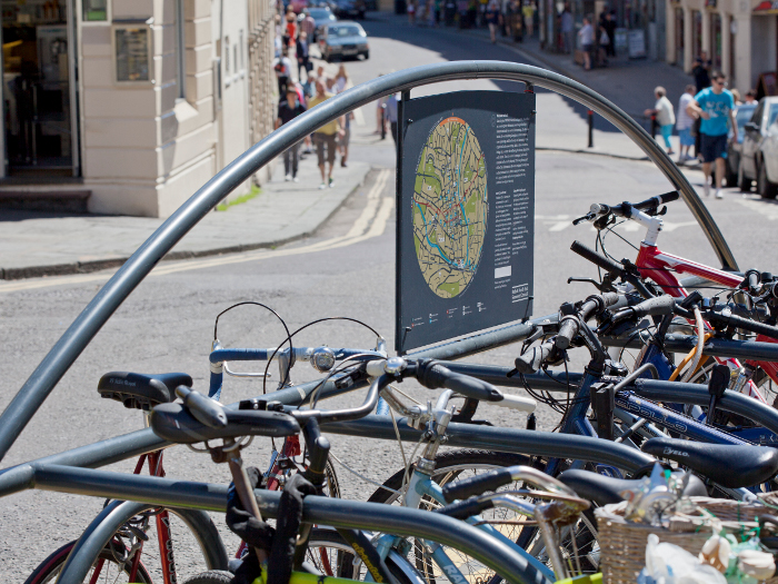 PearsonLloyd designed cycle stands are now part of the Bath street scene