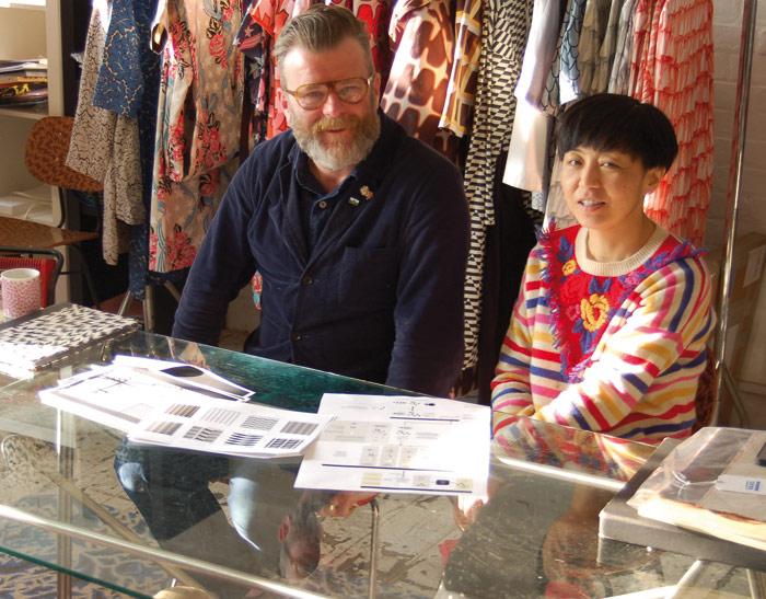 Mark Eley and Wakako Kishimoto at their South London base. Photo Credit: Herbert Wright