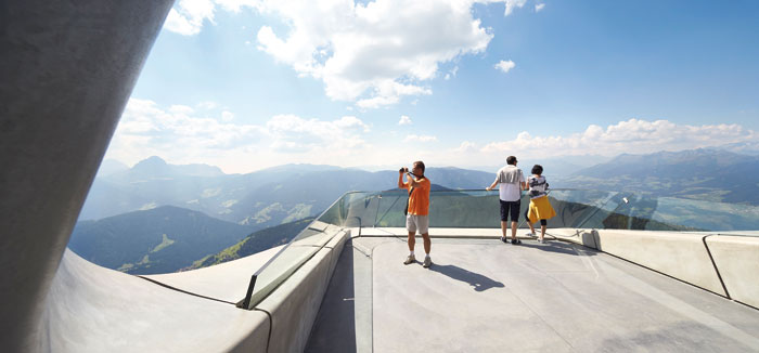 Mountain-top view from the Messner Museum