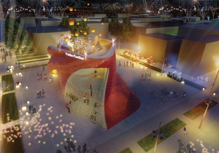 Vanke Pavilion. Theme Shitang. Designer Daniel Libeskind