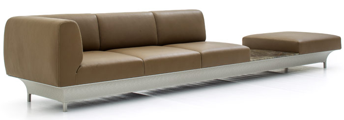 Moroso, Teo by Arelier Oi. The French consultancy took its inspiration from bridges for this stand-out sofa system