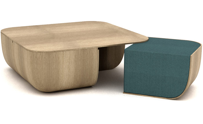 Cappellini, Anemos by Antonio Facco. Assuredly simple and muscular table and chairs from a new face