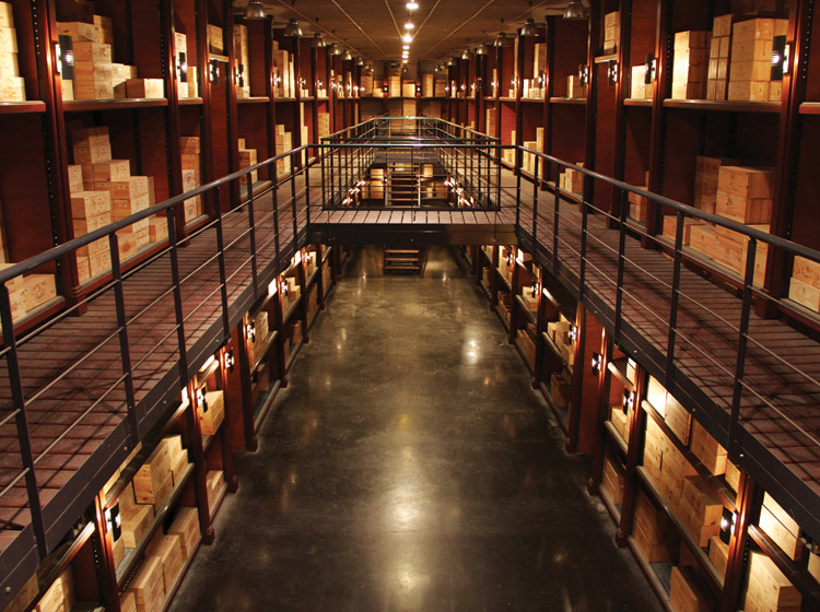Millésima's capacious cellars. Photography courtesy of Millésima