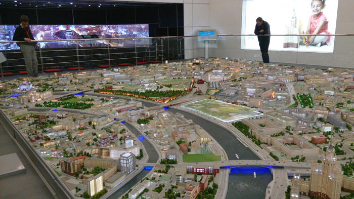 – Moscow's 70 sq m, 1:400 scale model at VDNKh will be expanded to 13 times the area. Photo Credit: moscow city planning dept