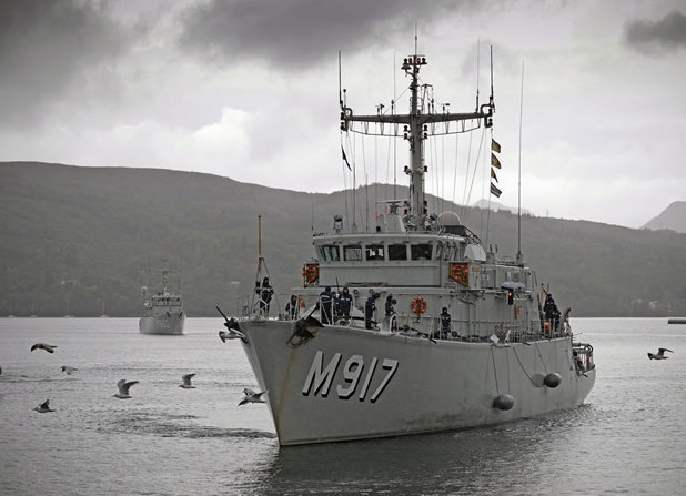Joint Warrior Exercise vessel