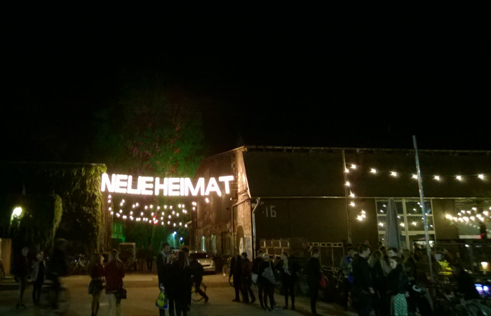 Once a tram depot, the Neuehaimat became a twice-weekly night market during this summer