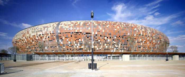 Soccer City Johannesburg, designed by Populous