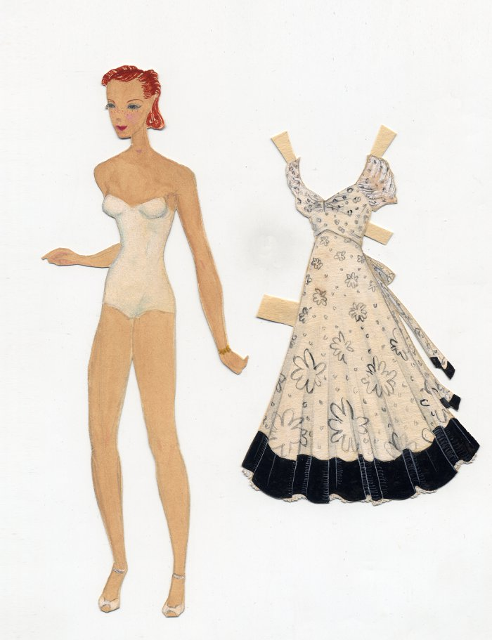 Ray Kaiser: Paper doll and dress, from the early Thirties