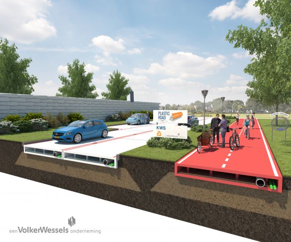 Plastic road concept (source: VolkerWessels)