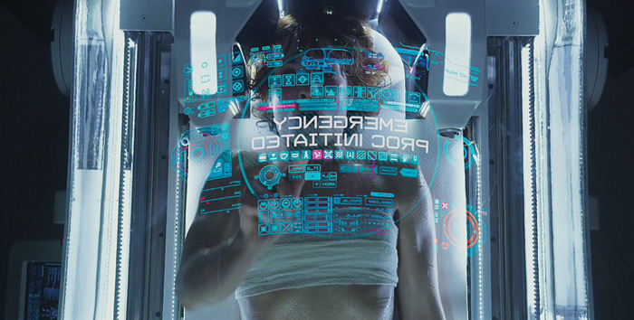 Ridley Scott's Prometheus features hundreds of motion screens and overlays created by Territory. Photo: 2012 – Twentieth Century Fox Film Corporation