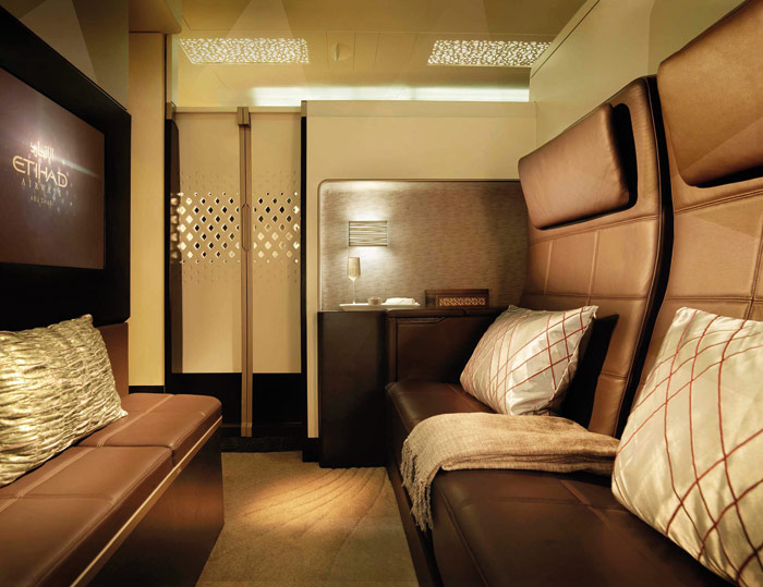 The Residence for Etihad Airways on the Airbus A380, a three-room VIP interior design by Acumen. It is due to enter commercial service at the end of the year