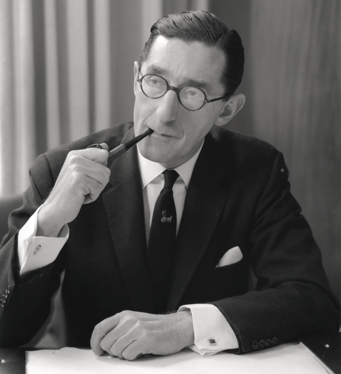 Richard Seifert, by Rex Coleman for Baron Studios, 1962. During the Second World War Seifert served with the Royal Engineers, attaining the rank of colonel. Photo Credit: National Portrait Gallery