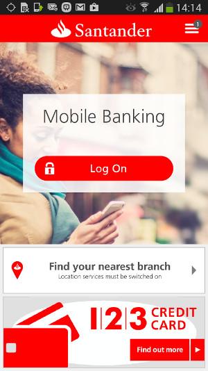 Santander mobile banking app